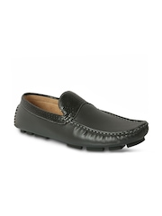 Action Men Black Leather Loafers