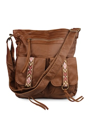 Shoetopia Brown Sling Bag