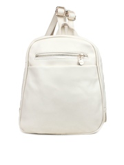 Shoetopia Women White Backpack