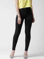 New Look Black High-Rise Super Skinny Jeans