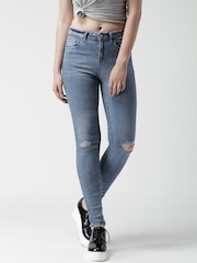 New Look Blue Washed Skinny Jeans