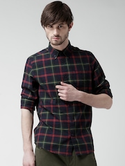 New Look Navy & Green Checked Casual Shirt