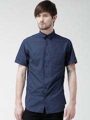 New Look Navy Printed Casual Shirt