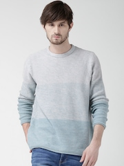 New Look Off-White & Mint Green Sweater