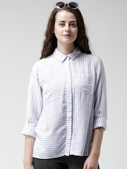 New Look Blue & White Striped Shirt