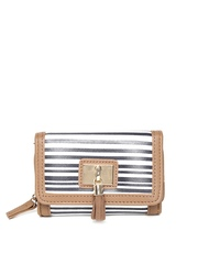 New Look Women Navy & White Striped Wallet