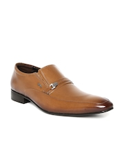 Lee Cooper Men Tan Brown Genuine Leather Semiformal Shoes