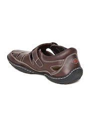 Lee Cooper Men Coffee Brown Genuine Leather Sandals