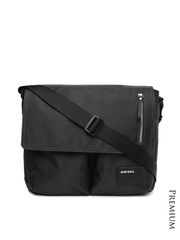 DIESEL Men Black Laptop Messenger Bag
