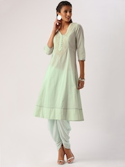 All About You from Deepika Padukone Mint Green Embroidered Kurta