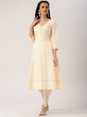 All About You from Deepika Padukone Beige Embroidered Anarkali Kurta