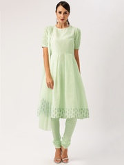 All About You from Deepika Padukone Mint Green Anarkali Churidar Kurta with Dupatt