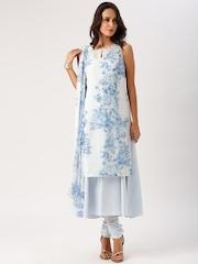 All About You from Deepika Padukone Pastel Blue Layered Anarkali Kurta Set with Dupatta