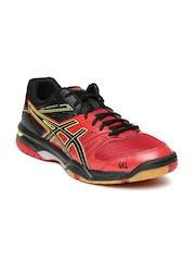 ASICS Men Red & Black Gel Rocket 7 Badminton Shoes