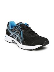 ASICS Men Black & Silver-Toned GEL-IMPRESSION 8 Running Shoes