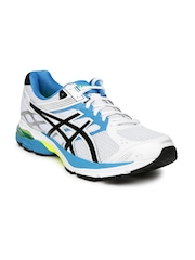 ASICS Men White & Blue GEL-PULSE 7 Running Shoes