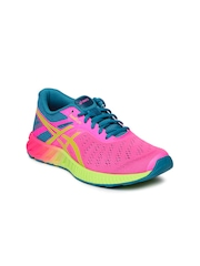 ASICS Women Pink & Teal Green FuzeX LYTE Running Shoes