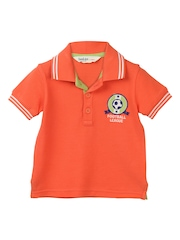Beebay Boys Orange Polo T-shirt