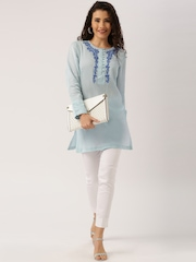 All About You by Deepika Padukone Blue Embroidered Kurta
