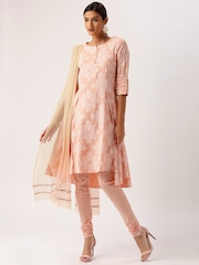 All About You from Deepika Padukone Peach-Coloured Floral Print Salwar Suit