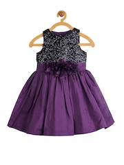 Toy Balloon kids Girls Purple & Black Sequinned A-Line Dress
