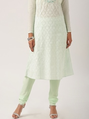 All About You from Deepika Padukone Mint Green Crepe Churidar Trousers