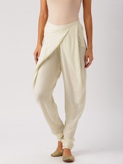 All About You from Deepika Padukone Cream-Coloured Sushi Twill Churidar Style Pants