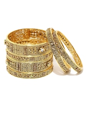 Sukkhi Set of 6 Gold-Plated Bangles