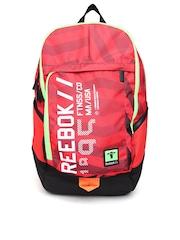 Reebok Unisex Red & Black Printed Sports Backpack MTNWACTVPKTBPK