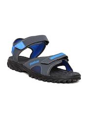 Reebok Men Grey & Blue Adventure Chrome Sports Sandals