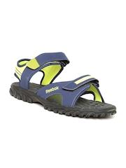 Reebok Men Navy & Lime Green Adventure Chrome Sports Sandals