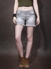 Roadster Women Grey Washed Regular Fit Shorts