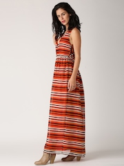 All About You from Deepika Padukone Multicoloured Striped Georgette Maxi Dress