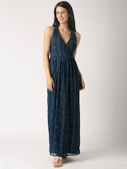 All About You from Deepika Padukone Teal Blue Floral Print Polyester Maxi Dress