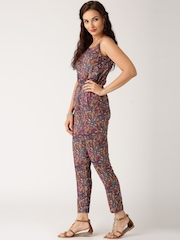 All About You from Deepika Padukone Burgundy Printed Jumpsuit