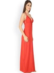 Soie Red Maxi Nightdress NT-24REDM