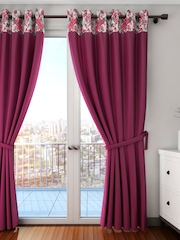 Swayam Wine-Coloured Single Long Door Curtain