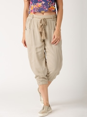 All About You By Deepika Padukone Beige Capris with Tassel Belt