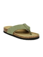 Carlton London Men Olive Green Sandals