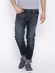 American Swan Navy Washed Slim Jeans