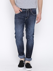 American Swan Navy Washed Slim Fit Jeans