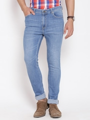 American Swan Blue Washed Slim Fit Jeans