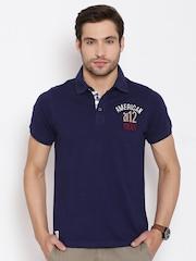 American Swan Navy Polo T-shirt