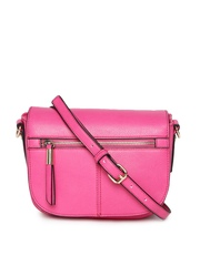 Accessorize Pink Textured Sling Bag
