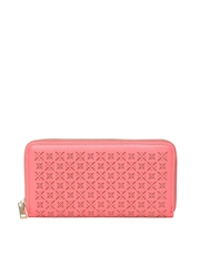 Accessorize Women Coral Pink Cut-Out Wallet
