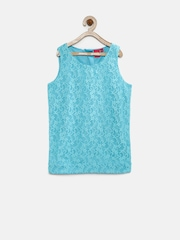 Juniors by Lifestyle Girls Blue Lace Top