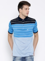 Duke Blue Striped Polo T-shirt