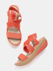 Mast & Harbour Women Orange Wedge