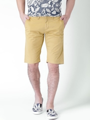 "Moda Rapido Khaki Shorts- Stretch fabric- Mobile (upto 6.2"") Phone Pocket"