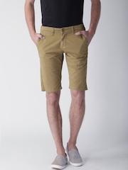 "Moda Rapido Khaki Shorts- Stretch fabric- Mobile (upto 6.2"") Phone Pocket"